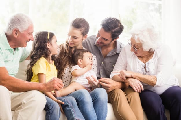A reunited family happy to have found a good Health Insurance Quotes.
