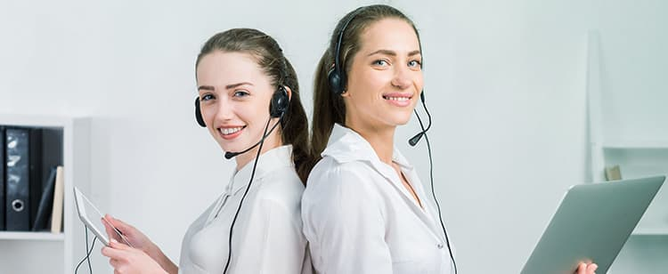Two licensed agents waiting for a call to offer Health Insurance Quotes.