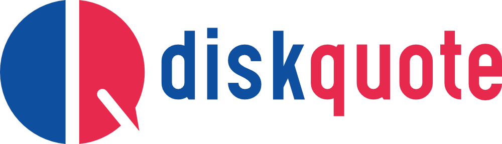 Logo DiskQuote Red and blue